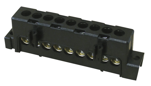 Brass Terminals with 9 Phase Connections