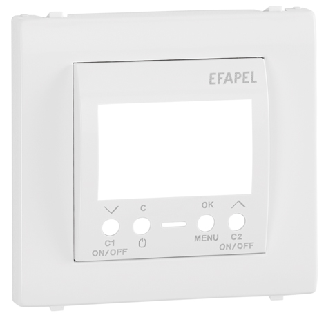 Cover Plate for Two Circuits Digital Time Switch
