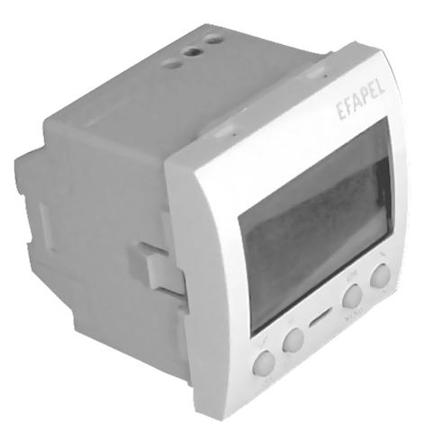 Interrupteur Horaire Digital de 1 Circuit - 2 Modules