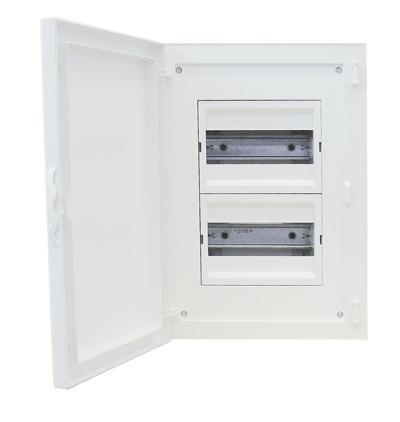 Complete Flush Mounting Distribution Panelboard - 16 Modules (2x8)
