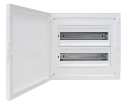 Complete Flush Mounting Distribution Panelboard - 32 Modules (2x16)