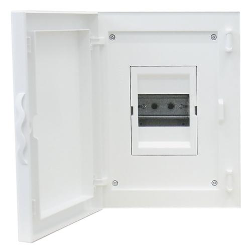 Complete Flush Mounting Distribution Panelboard- 4 Modules (1x4)