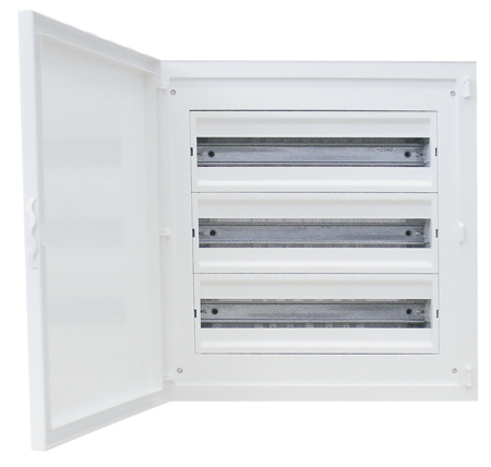 Complete Flush Mounting Distribution Panelboard - 60 Modules (3x20)