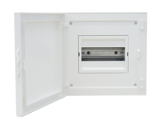 Complete Flush Mounting Distribution Panelboard - 8 Modules (1x8)