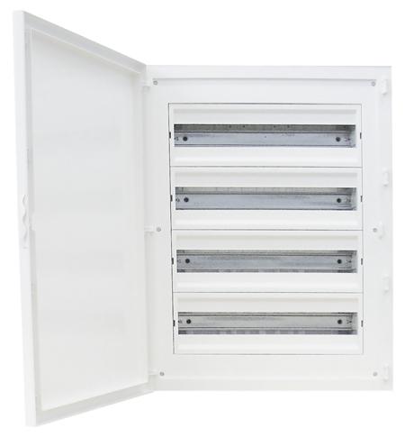 Complete Flush Mounting Distribution Panelboard - 80 Modules (4x20)