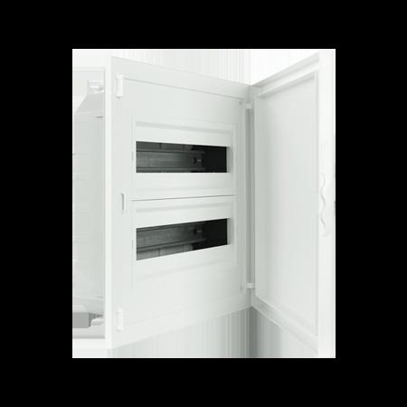 Complete Low Depth Flush Mounting Distribution Panelboard - 32 MODULES (2x16)